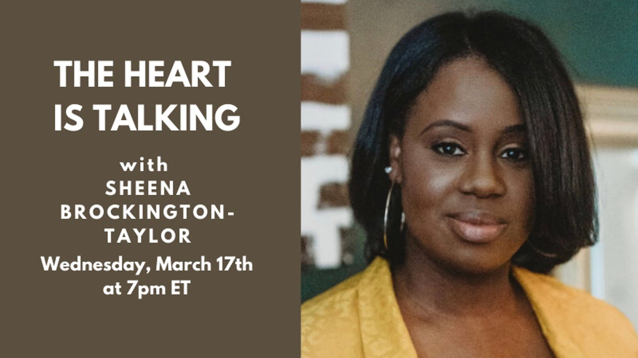 Recorded Talk: Sheena Brockington-Taylor (3.17.21)