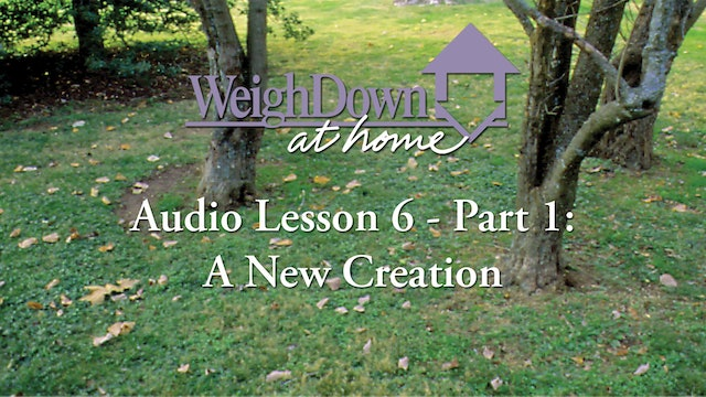 Weigh Down at Home - Audio Lesson 6 - A New Creation