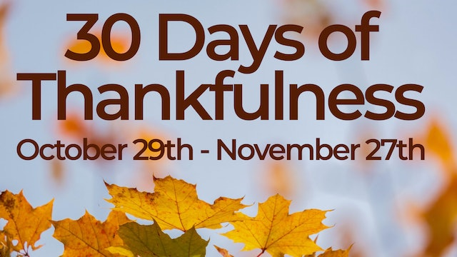 30 Days of Thankfulness