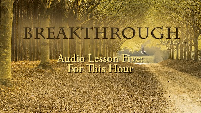 Breakthrough Audio Lesson 5