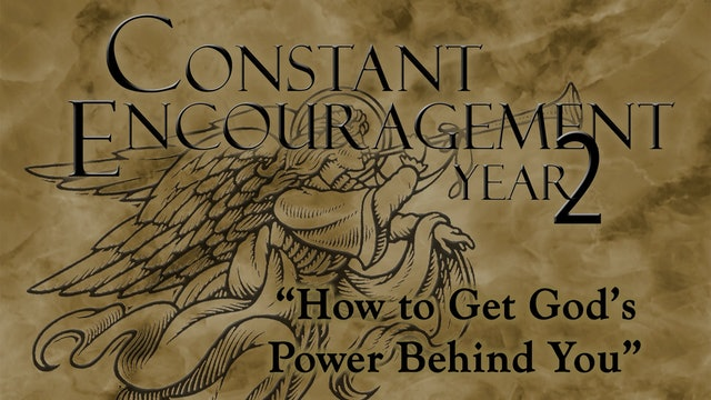 How to Get God's Power Behind You