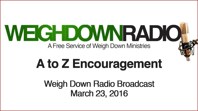 A to Z Encouragement