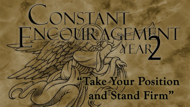 Take Your Position and Stand Firm