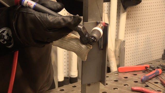 TIG welding vertical 3F tee joint - c...