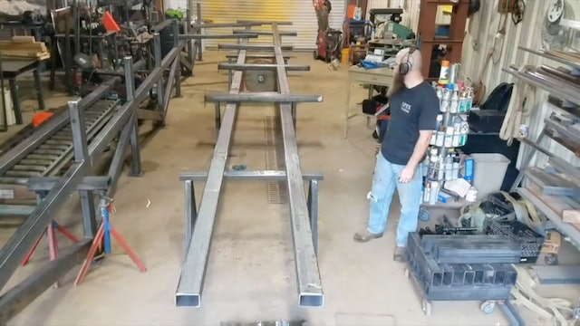JD Brewer - Fabricating a 60ft Rack, Dual Shield Flux Core (Part 1)