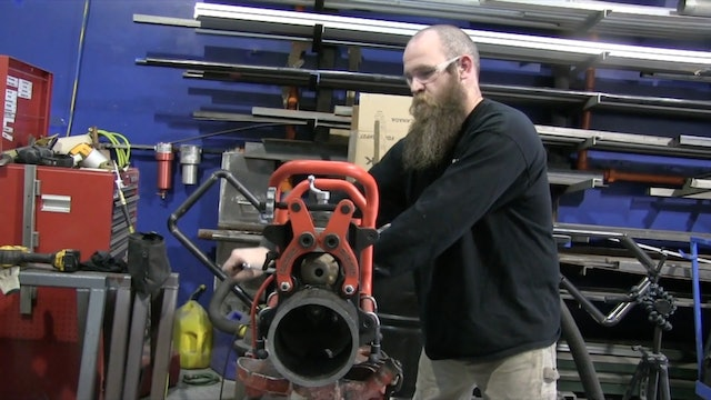 JD Brewer - MIG Welding Downhill Roots and a Handrail Fitting