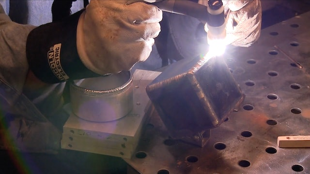 TIG Brazing a Steel Cube project