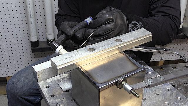 TIG Weding 18 ga Carbon steel Cube project