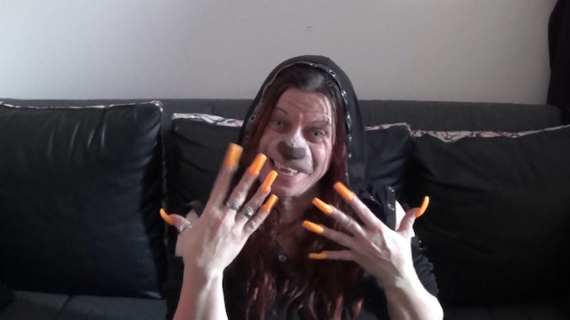 Werewolf Girl with Long Clicking Nails