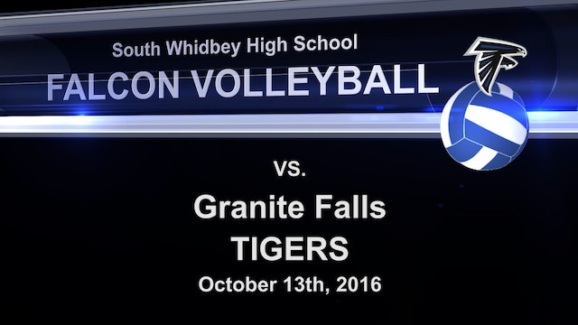 2016 SWHS Volleyball v Granite Falls