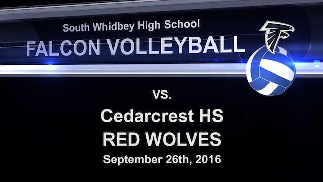 2016 SWHS Volleyball v Cedarcrest
