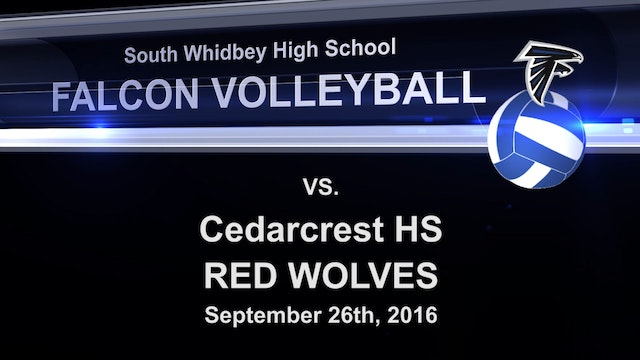 2016 SWHS Volleyball v Cedarcrest