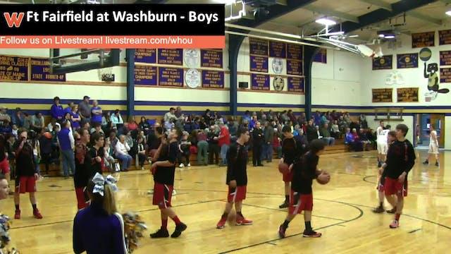 Ft Fairfield at Washburn - Boys 1-19-16