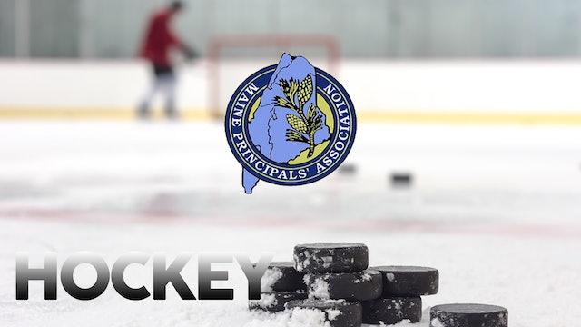 Class B North Hockey Semi-Final OT/Orono vs Messalonskee 2-28-20