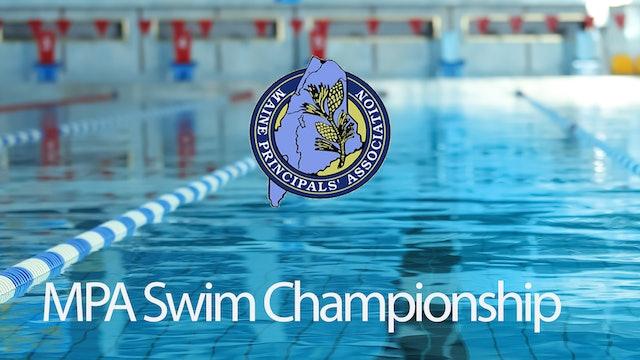 MPA Swim Championships Class B Girls - Bowdoin 2/17/20