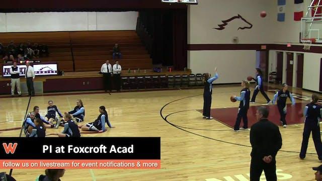 PI at Foxcroft Academy 1-21-17