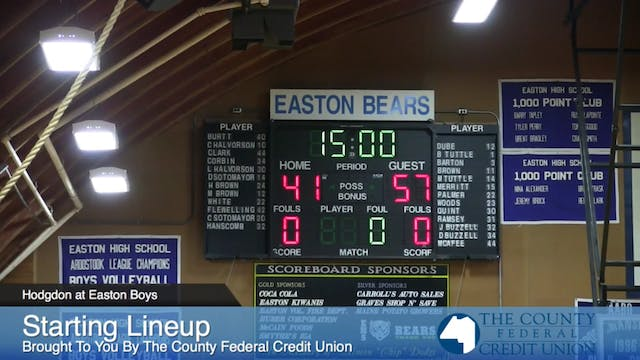 Hodgdon Boys v Easton 2014