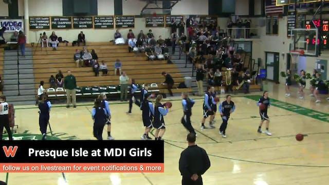 Presque Isle @ MDI Girls 1-18-17
