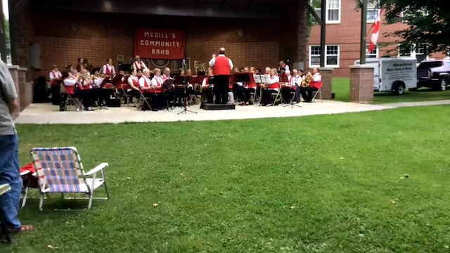 Video on McGill's Band 7-30-15