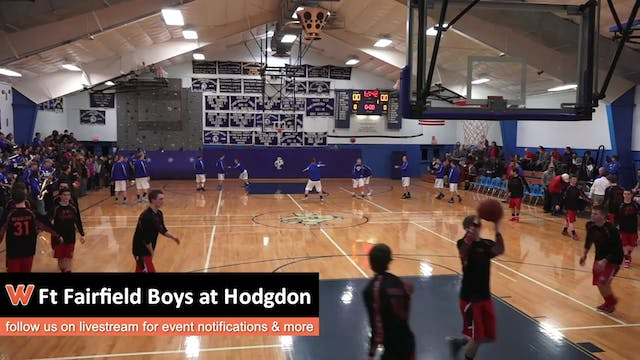 Fort Fairfield Boys at Hodgdon 1-6-17