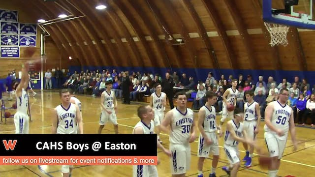 CAHS Boys at Easton 1-3-17