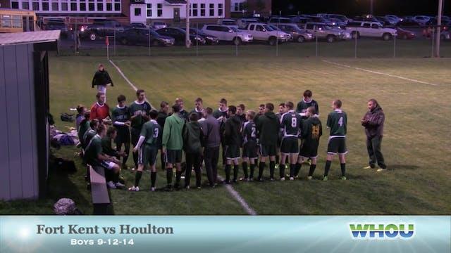 Boys Soccer Fort Kent v Houlton 9-12-14