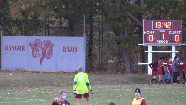 Old Town at Bangor Boys Soccer 10/8/20