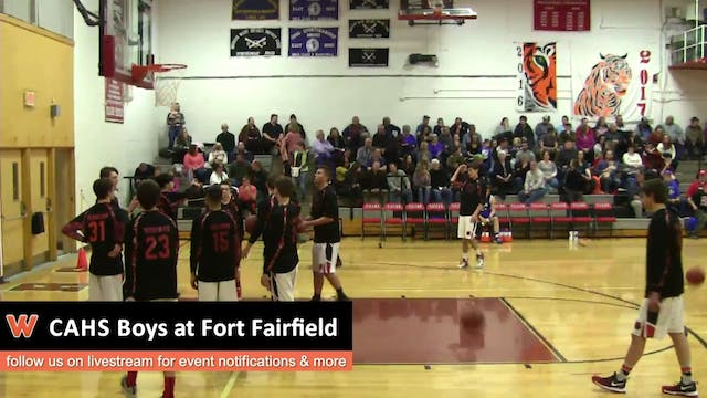 CAHS Boys at Fort Fairfield 12-28-16