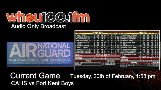 Bangor Tournament Coverage - Live Stats and Audio CAHS vs Ft Kent Boys