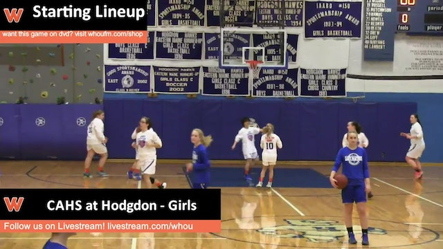 CAHS at Hodgdon - Girls 1/8/16
