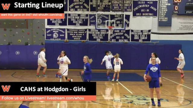 CAHS at Hodgdon - Girls 1/8/16