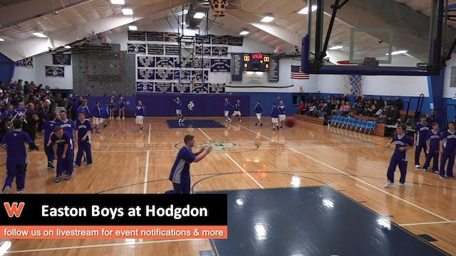 Easton Boys at Hodgdon 1-16-17