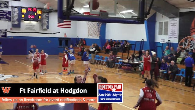 Ft Fairfield Girls at Hodgdon 1-9-18