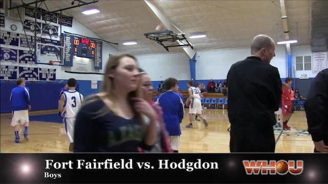 Fort Fairfield vs Hodgdon Boys 1/28/14