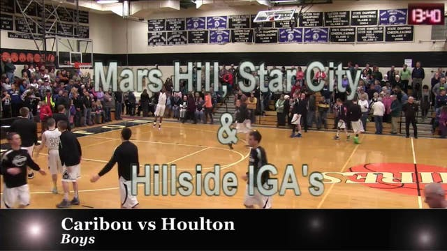 Caribou vs Houlton boys 2-4-14
