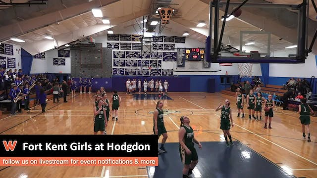 Fort Kent Girls at Hodgdon 1-3-17