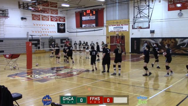 GHCA at Ft Fairfield Girls Volleyball...