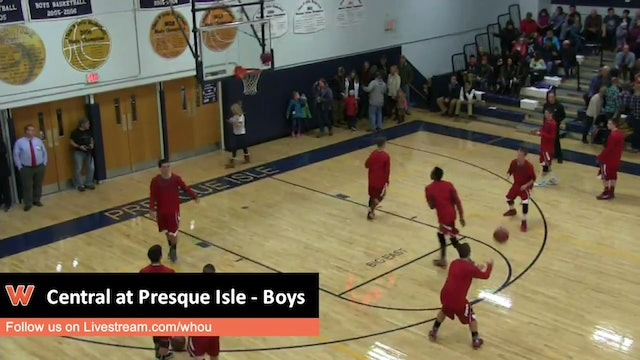 Presque Isle vs Central boys
