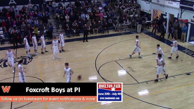 Foxcroft Academy Boys @ PI 1-19-18
