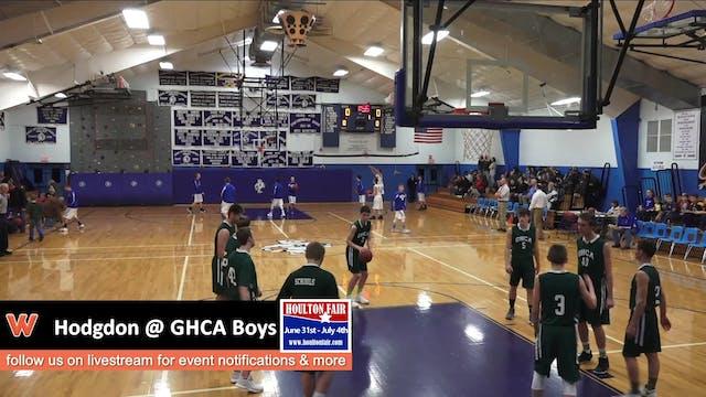 Hodgdon @ GHCA Boys 12-16-17