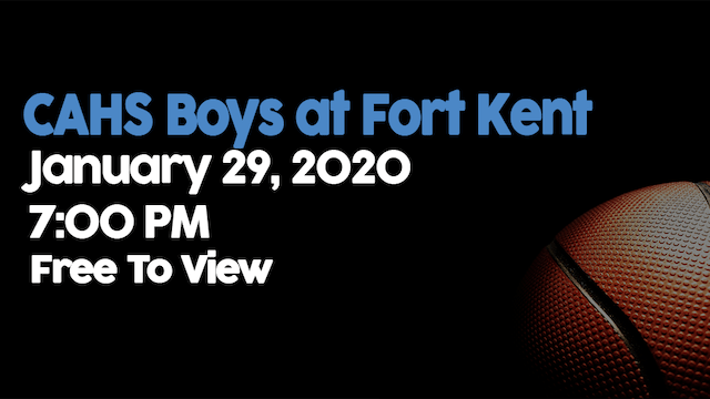 CAHS Boys at Fort Kent 1/29/20