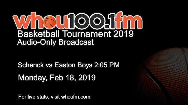 Schenck vs Easton Boys 2:05 PM