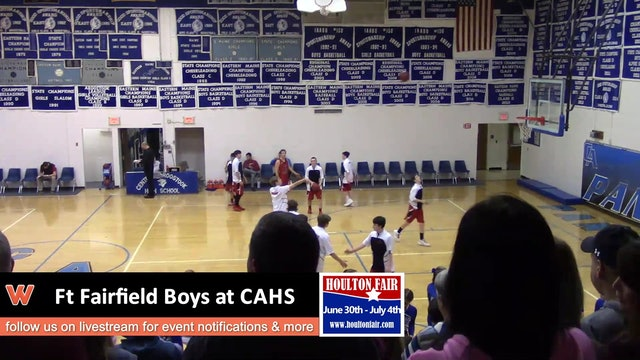 Ft Fairfield Boys at CAHS 1-8-18