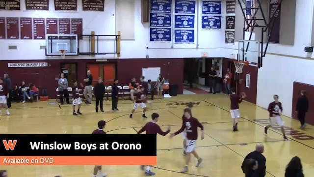 Winslow boys at Orono 12-16-17