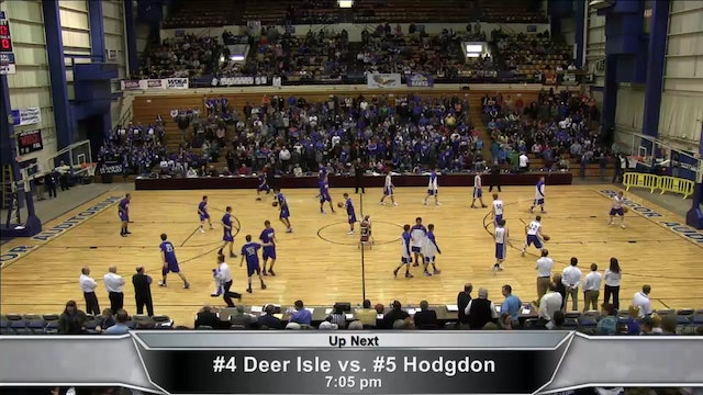 Deer Isle Stonington vs Hodgdon Boys Quarter-finals