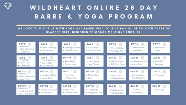 Barre & Yoga 28 Day Program