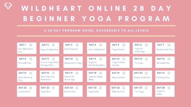 Yoga for Beginners 28 Day Program