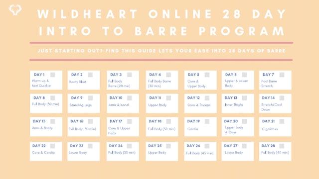 Beginner Barre 28 Day Program