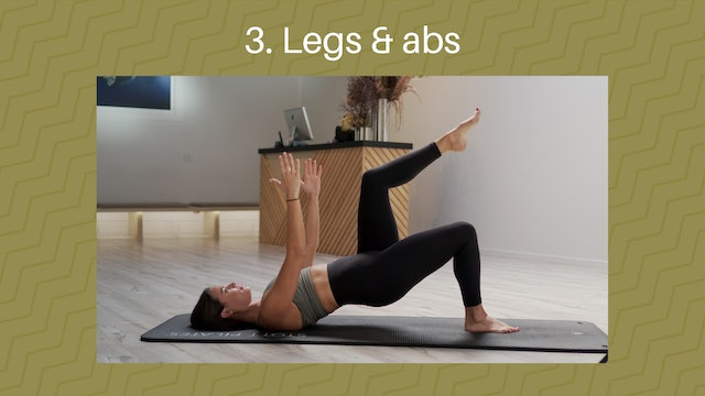 3.  Legs and Abs