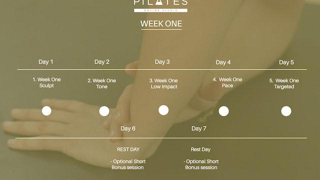 3 Week Challenge Week One